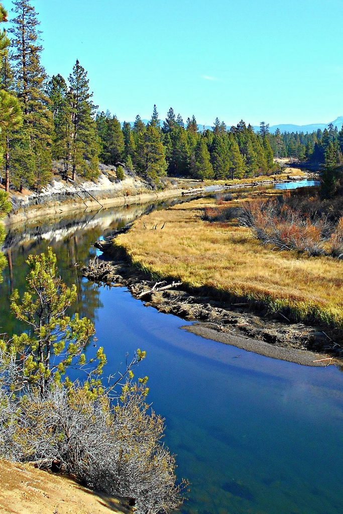 River view in LaPine, Oregon