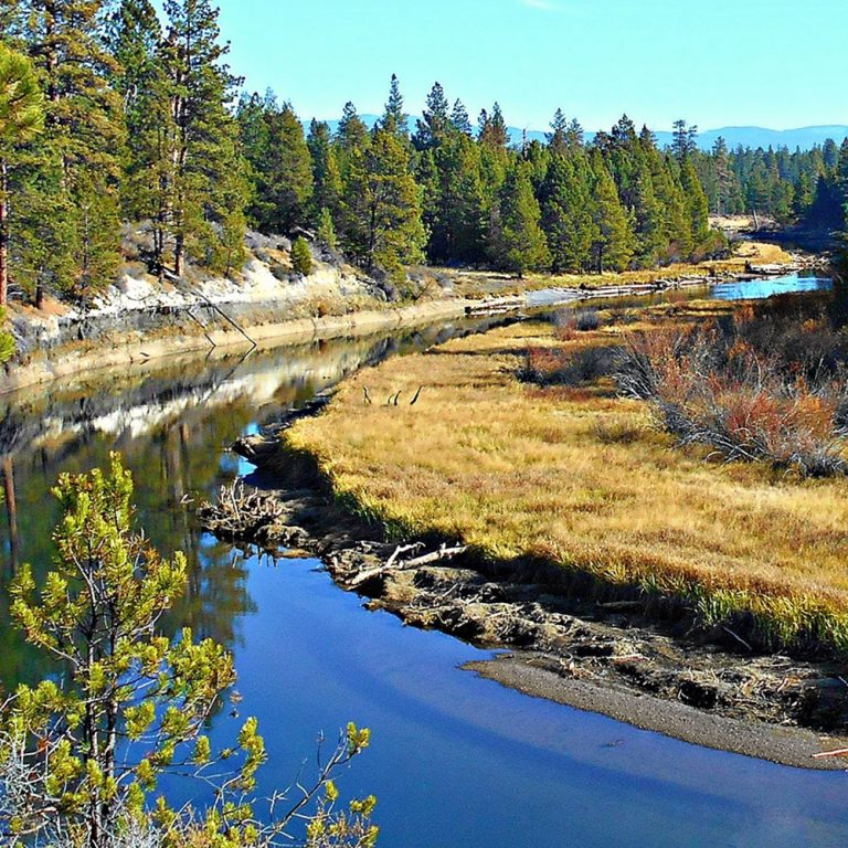 Deschutes River as viewed from the Don McGregor Viewpoint in La Pine State Park - near La Pine, OR