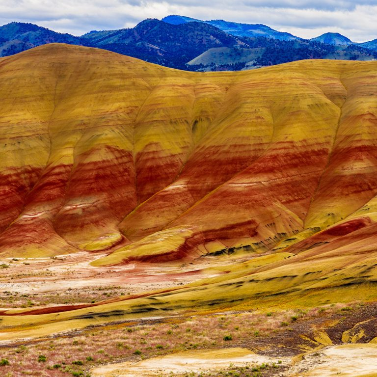 Scenic overlook of Painted Hills Oregon, outside Prineville