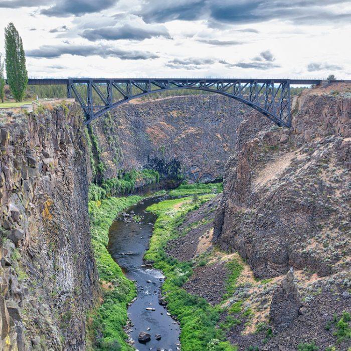 Rex T. Barber Veterans Memorial Bridge spans the Crooked River Gorge in Central Oregon.