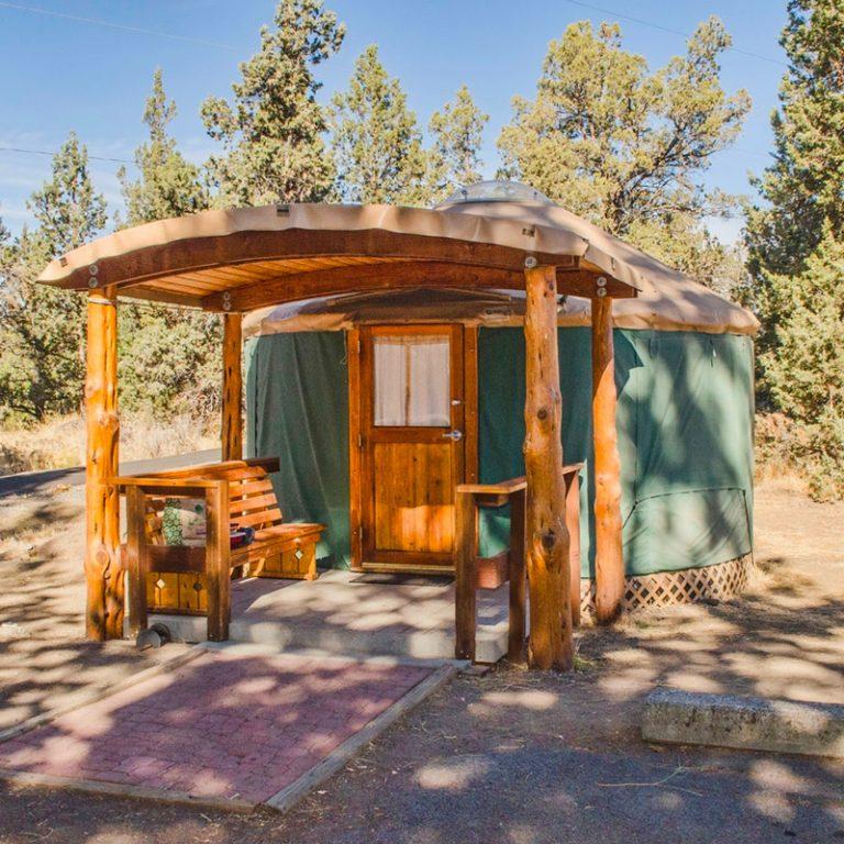 A Yurt camping site at Tumalo Rock State Park